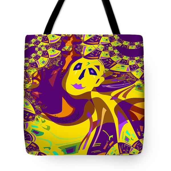 874 - Mellow Yellow Clown Lady - 2017 Tote Bag