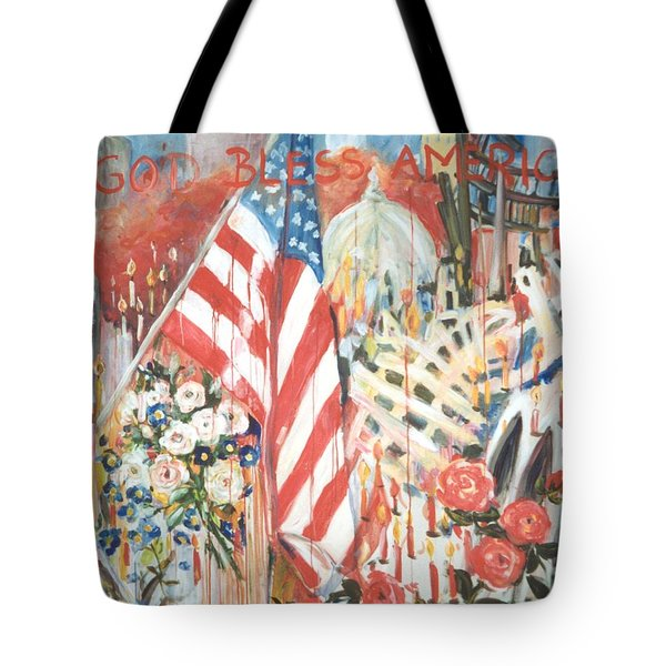 9-11 Attack Tote Bag by Alexandra Maria Ethlyn Cheshire