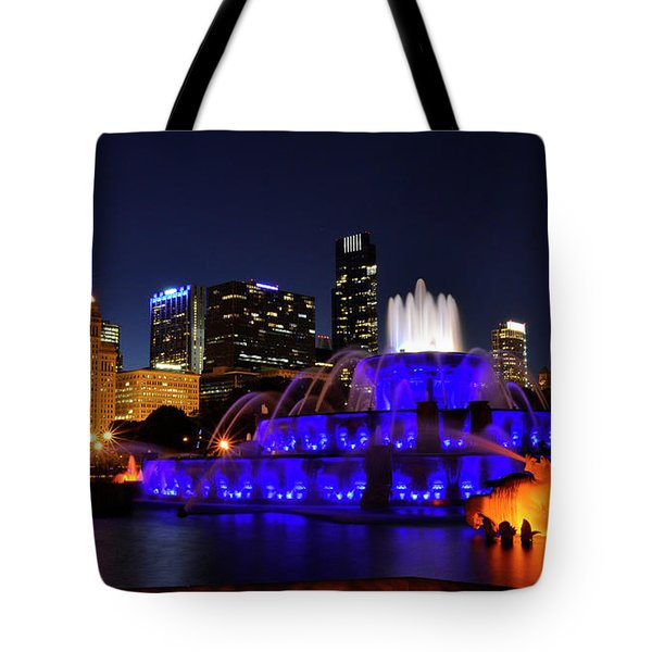 Tote Bag featuring the photograph 911 Tribute At Buckingham Fountain, Chicago by Zawhaus Photography