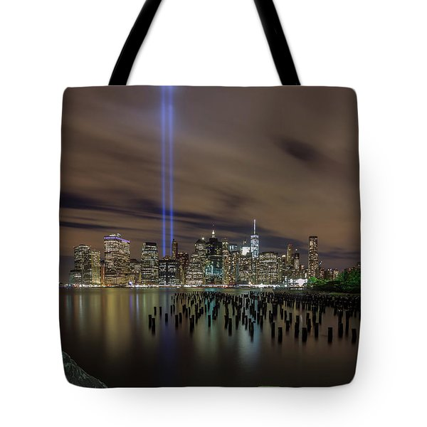 9/11 Tribute Lights 2016 Tote Bag