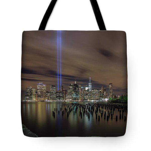 9/11 Tribute Lights 2016 Tote Bag