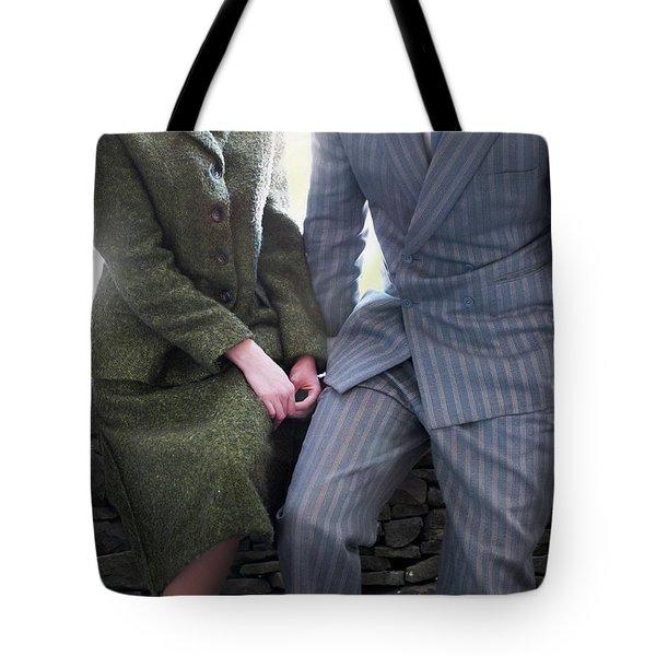 1940s Couple Tote Bag