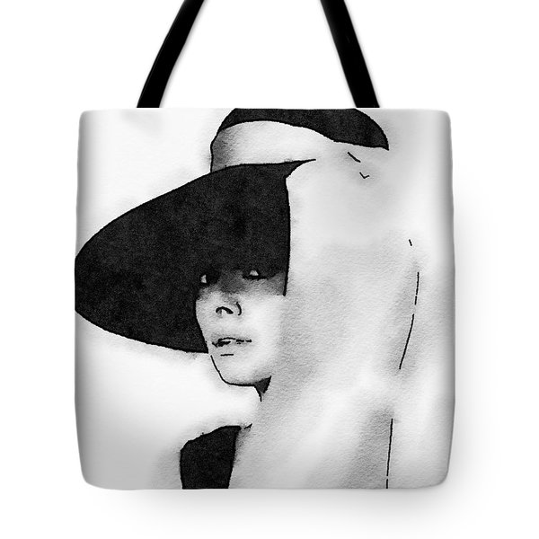 Audrey Hepburn Tote Bag by John Springfield