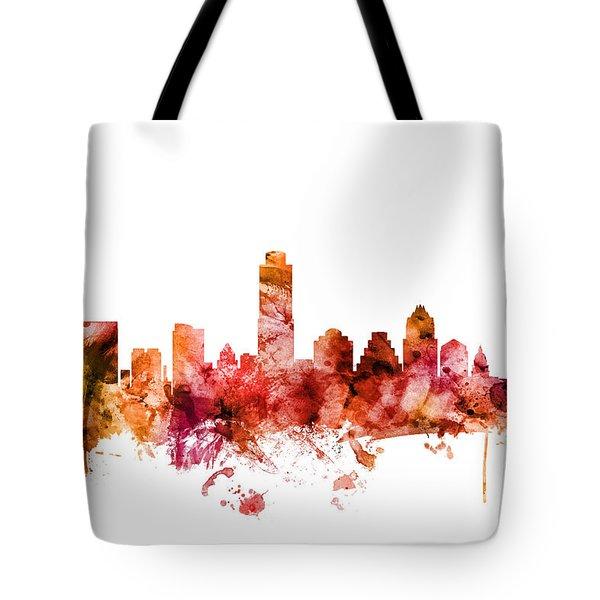 Austin Texas Skyline Tote Bag