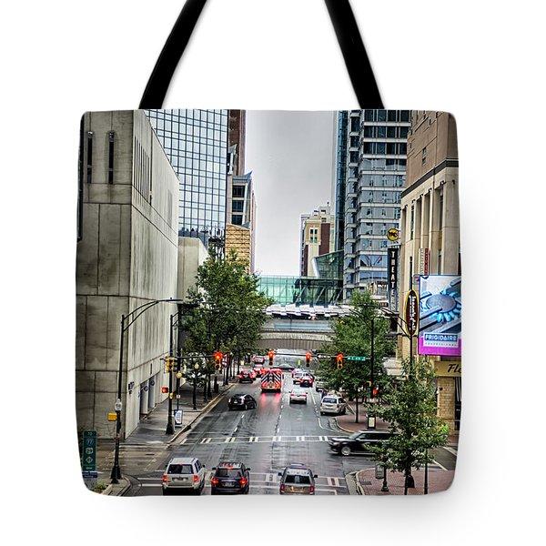 Charlotte North Carolina Views Around  Downtown Tote Bag