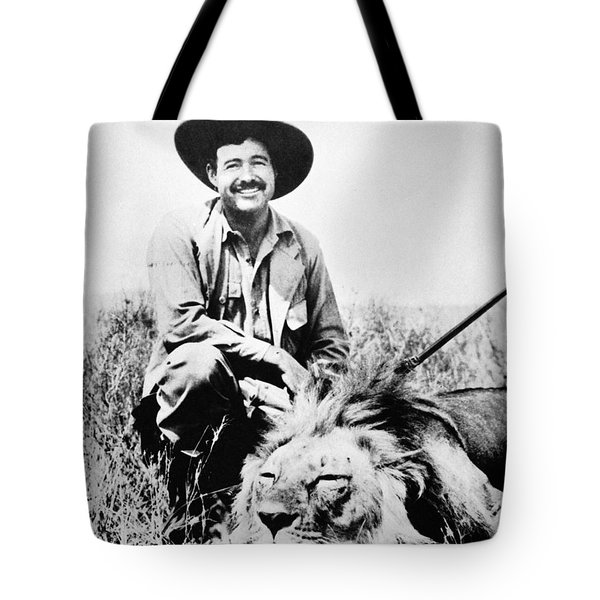 Tote Bag featuring the photograph Ernest Hemingway by Granger