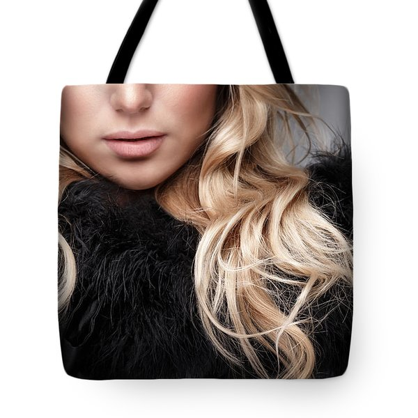 Fashion Woman Portrait Tote Bag