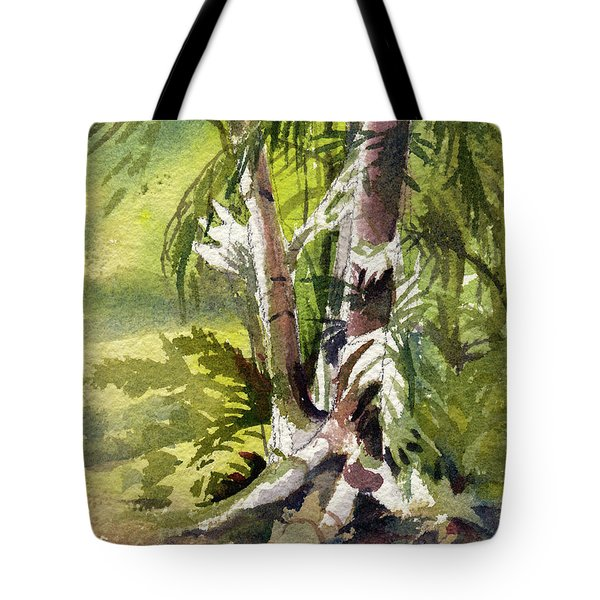 Tote Bag featuring the painting It's A Jungle Out There by Kris Parins