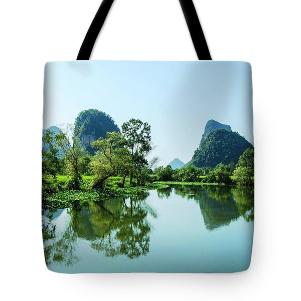 Tote Bag featuring the photograph Karst Rural Scenery by Carl Ning