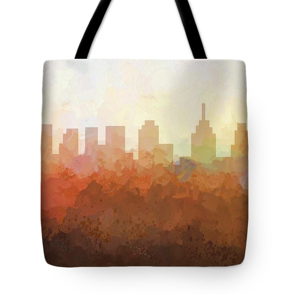 Tote Bag featuring the digital art Philadelphia Pennsylvania Skyline by Marlene Watson