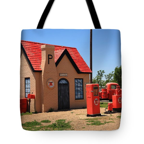 Route 66 - Phillips 66 Gas Station Tote Bag