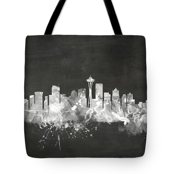 Seattle Washington Skyline Tote Bag