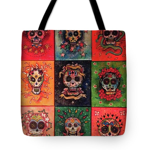 9 Skulls Tote Bag by Dori Hartley