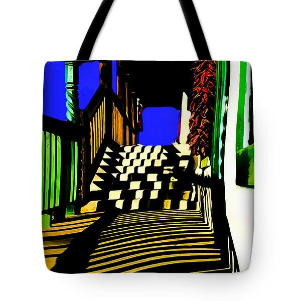 Streets Of Taos Tote Bag