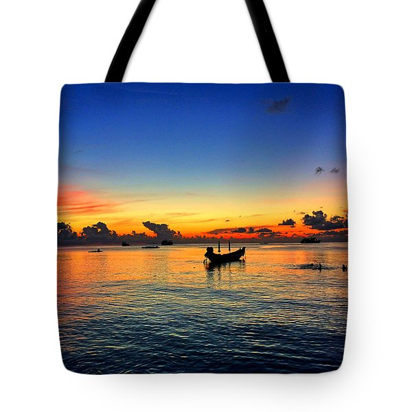 Sunset Tote Bag by Julita Pietrzyk