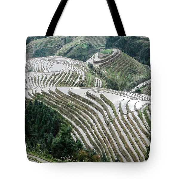 Tote Bag featuring the photograph Terrace Fields Scenery In Spring by Carl Ning