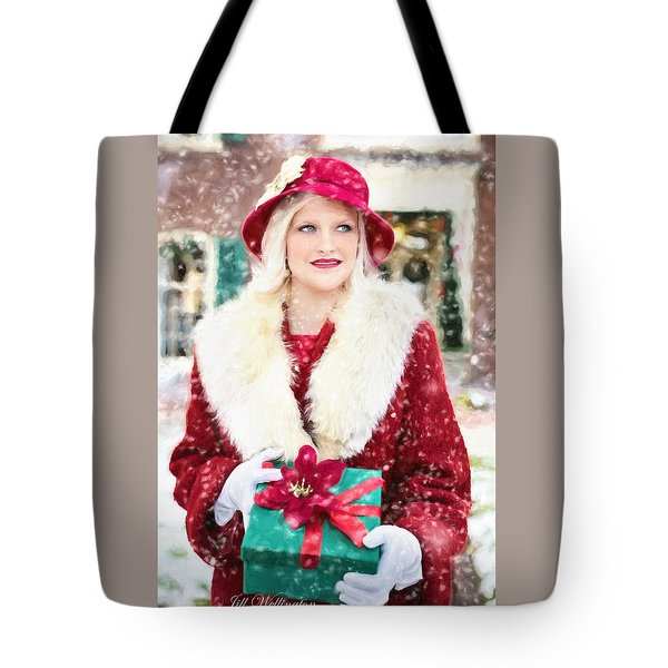 Vintage Val Home For The Holidays Tote Bag