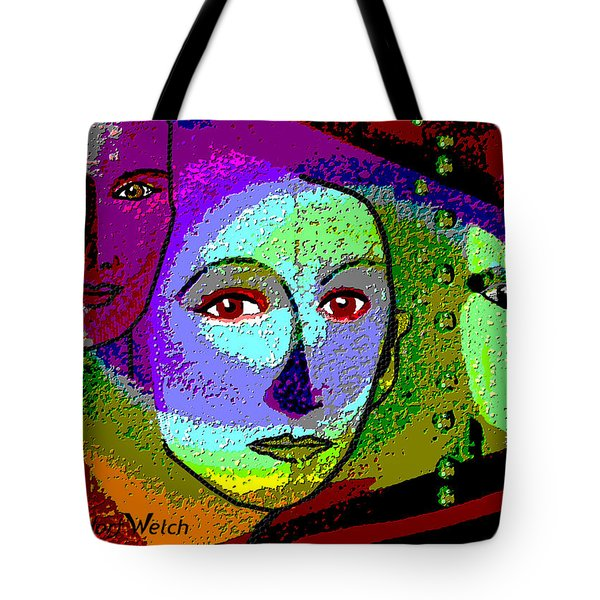 905 - A Certain Glare In The Eyes - 2017  Tote Bag by Irmgard Schoendorf Welch