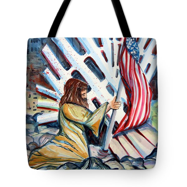 911 Cries For Jesus Tote Bag by Mindy Newman