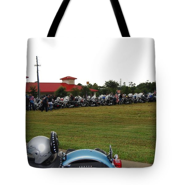 911 Ride Line Up Tote Bag by Angela Murray