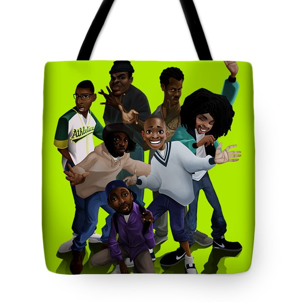 Tote Bag featuring the digital art 93 Till by Nelson Garcia