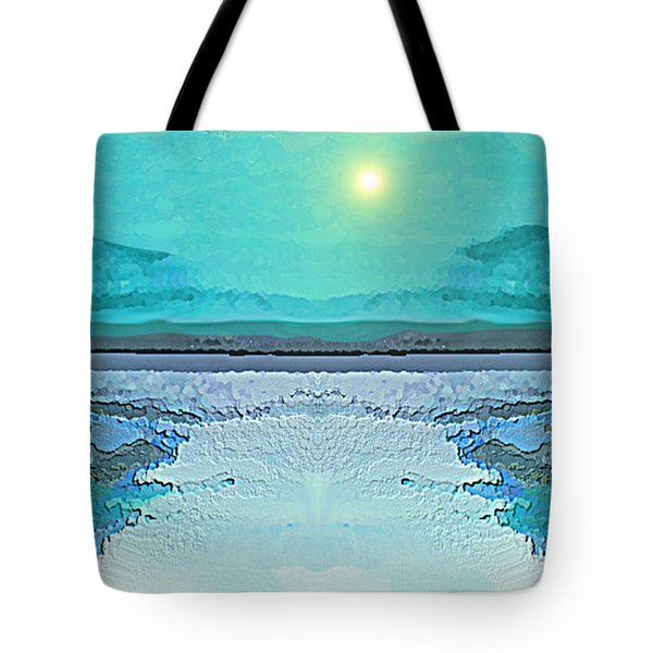 - 938 - Abstract Seascape - 2017  Tote Bag by Irmgard Schoendorf Welch