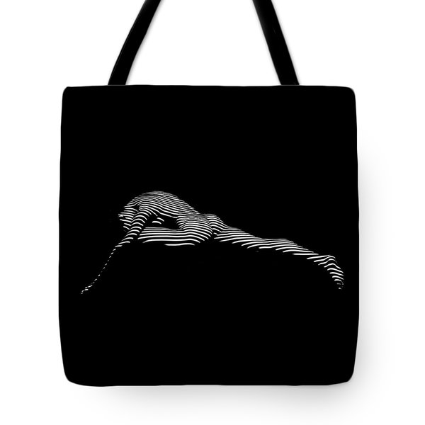 9474-dja Abstract Black White Nude Woman Flowing Tote Bag