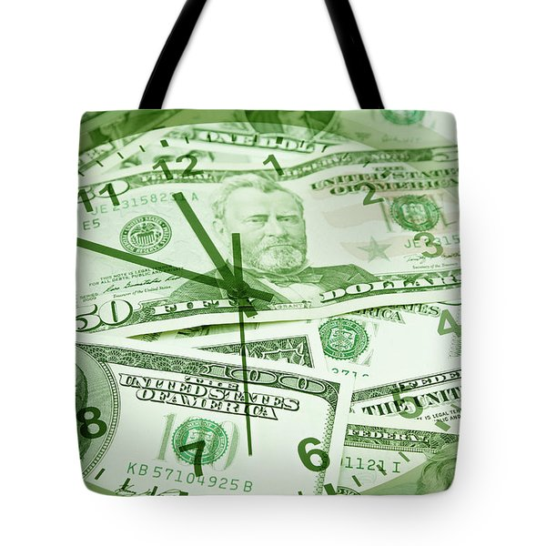 Tote Bag featuring the photograph Time Is Money  by Les Cunliffe
