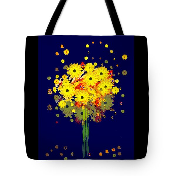 952 - Summer Flowers  Yellow ... Tote Bag by Irmgard Schoendorf Welch