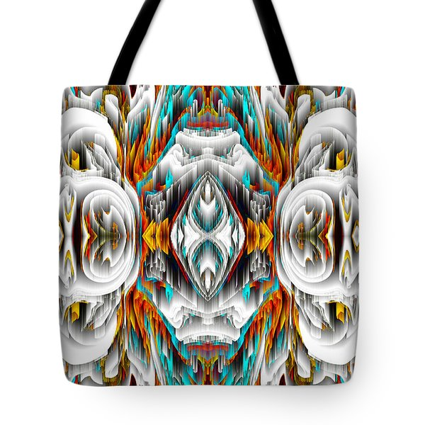 Tote Bag featuring the digital art 992.042212mirror2ornategold-1-a by Kris Haas