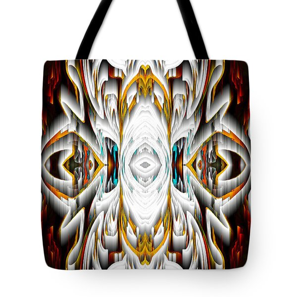 Tote Bag featuring the digital art 992.042212mirror2ornateredagold-1a-1 by Kris Haas