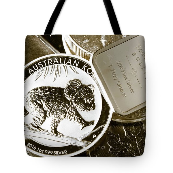 999 Silver Mint Tote Bag