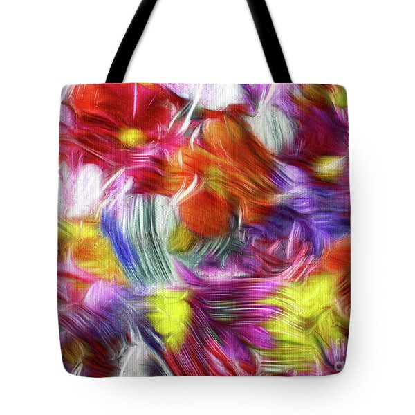 9a Abstract Expressionism Digital Painting Tote Bag