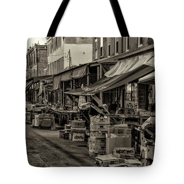 Tote Bag featuring the photograph 9th Street Italian Market - Philadelphia Pennsylvania by Bill Cannon
