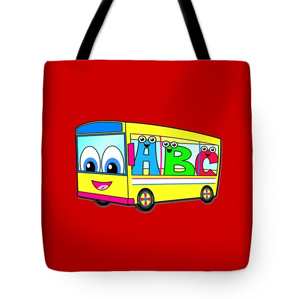 A B C Bus T-shirt Tote Bag