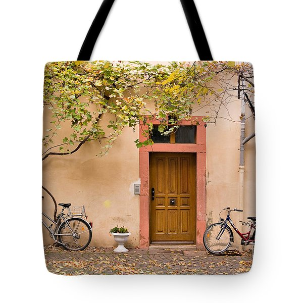 A Back Lane In Speyer Tote Bag by Louise Heusinkveld