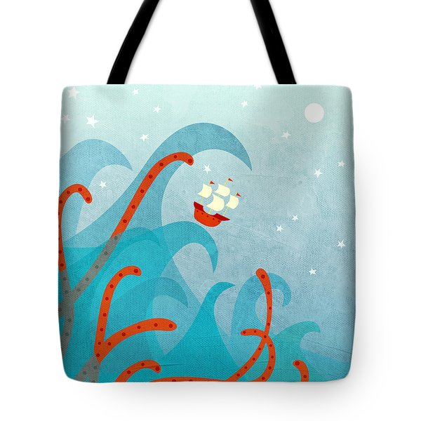 A Bad Day For Sailors Tote Bag by Nic Squirrell