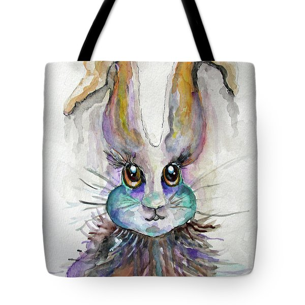 Tote Bag featuring the painting A Bad Hare Day by Rosemary Aubut