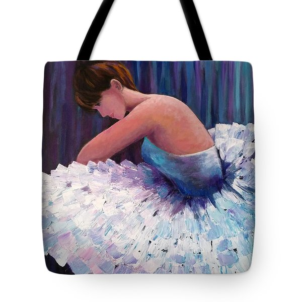 A Ballerina In Repose Tote Bag