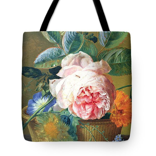 A Basket With Flowers Tote Bag