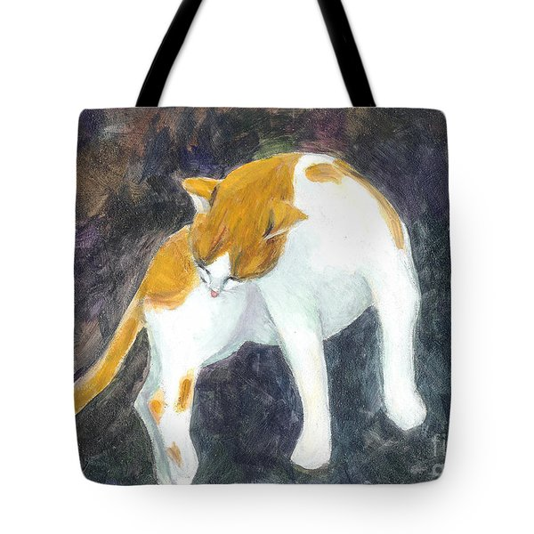 A Bathing Cat Tote Bag