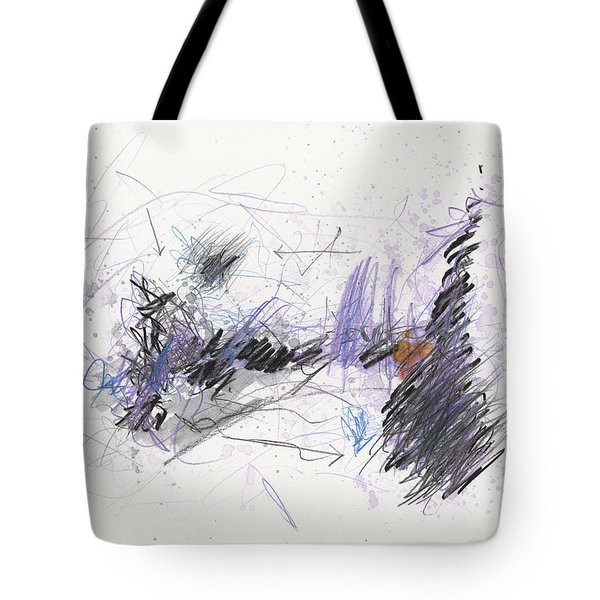 Tote Bag featuring the painting A Beast Of A Night by Rick Baldwin