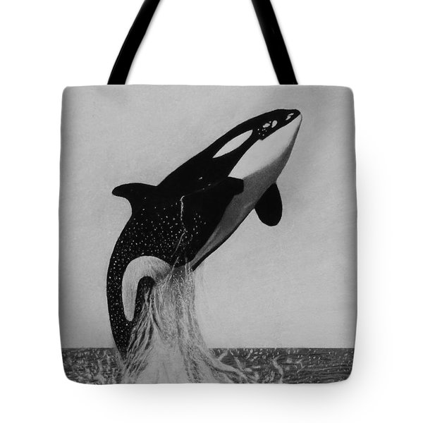 Orca - The Joy Of Freedom Tote Bag