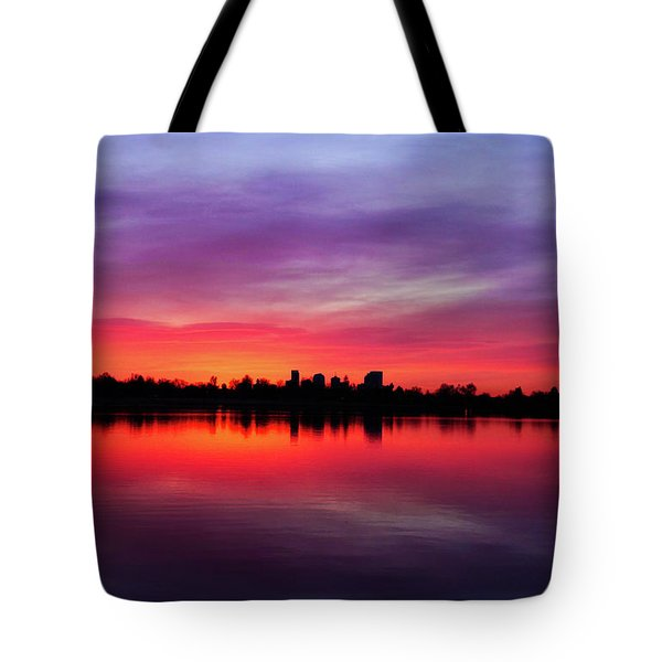 Sunrise At Sloan's Lake Tote Bag