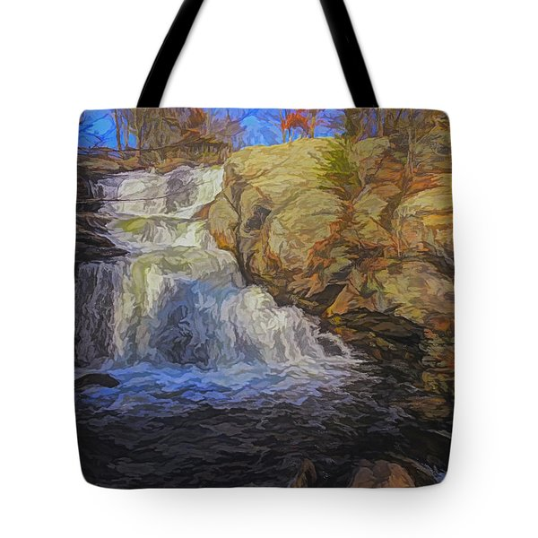 A Beautiful Connecticut Waterfall. Tote Bag