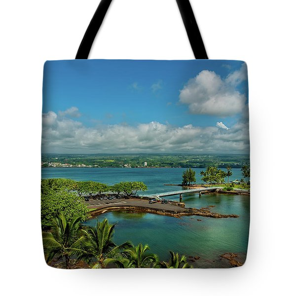 A Beautiful Day Over Hilo Bay Tote Bag
