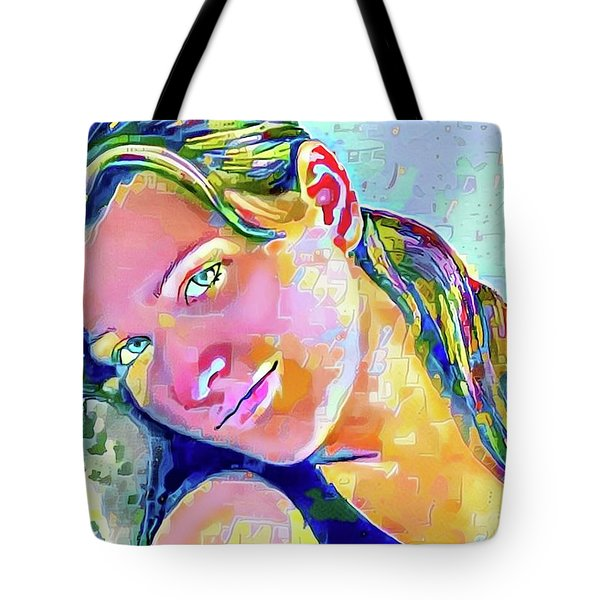 A Beautiful Girl Tote Bag by Jann Paxton