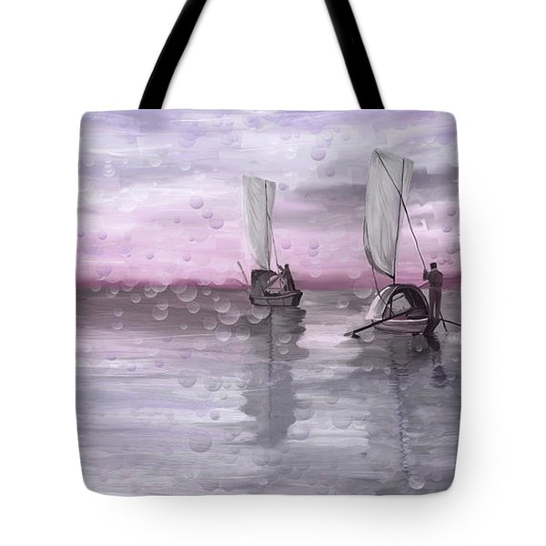 A Beautiful Morning For Fishing Tote Bag by Angela A Stanton