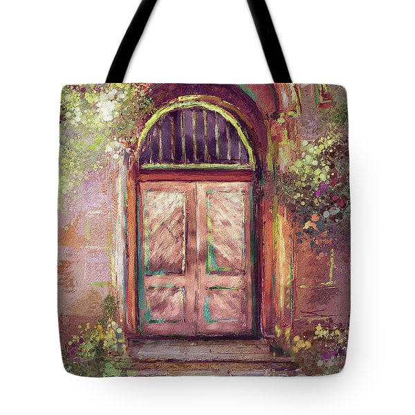 Tote Bag featuring the digital art A Beautiful Mystery by Lois Bryan