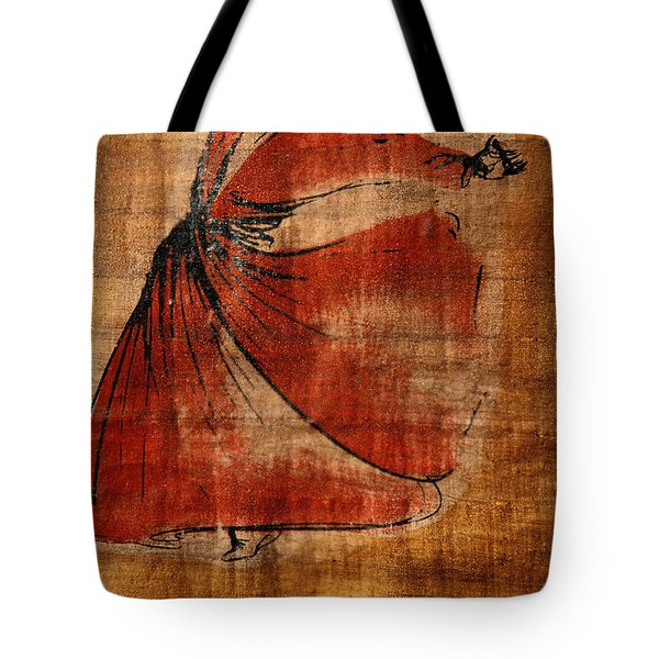 A Beautiful Painting Of A Whirling Tote Bag